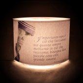 """Immagine di 'Lampada """"Importante non è ciò che facciamo..."""" (Madre Teresa di Calcutta) - dimensioni 20,5x16,5 cm'"""