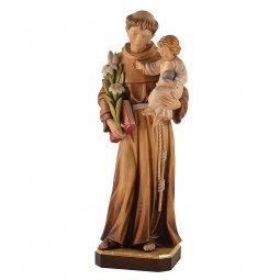 """Copertina di 'Statua sacra in legno colorato """"Sant'Antonio di Padova"""" - altezza 60 cm'"""