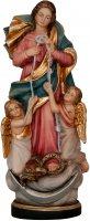"""Statua in legno dipinta a mano """"Maria che scioglie i nodi"""" - altezza 22 cm"""