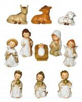 Presepe per Bambini: Set statuine Natività in resina con 11 personaggi fino a 7 cm d'altezza