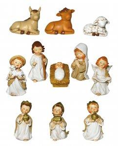 Copertina di 'Presepe per Bambini: Set statuine Natività in resina con 11 personaggi fino a 7 cm d'altezza'