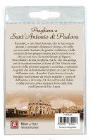 Immagine di 'Medaglia Sant Antonio con laccio e preghiera in italiano'