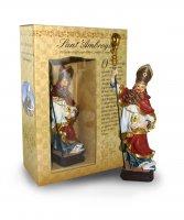 Statua Sant'Ambrogio da 12 cm in confezione regalo con immaginetta di  su LibreriadelSanto.it