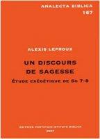 Un discours di sagesse - Alexis Leproux