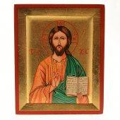 """Icona in legno e foglia oro """"Gesù Maestro"""" - dimensioni 13x10,5 cm"""