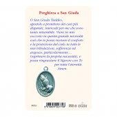 """Immagine di 'Card """"San Giuda Taddeo"""" con preghiera e medaglia - (10 pezzi)'"""