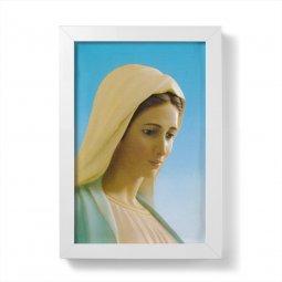 """Copertina di 'Quadretto """"Madonna di Medjugorje"""" con cornice minimal - dimensioni 15x10 cm'"""