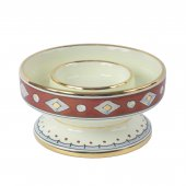 Portacero in ceramica cm 15 x 8 - Modello Rubino e Oro