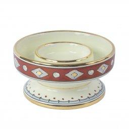Copertina di 'Portacero in ceramica cm 15 x 8 - Modello Rubino e Oro'