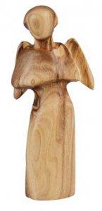 Copertina di 'Statuetta Angelo in legno d'ulivo'