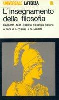 L' insegnamento della filosofia. Rapporto della Società filosofica italiana