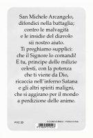"""Immagine di 'Card pvc con preghiera """"San Michele Arcangelo""""'"""
