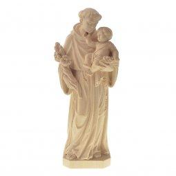 """Copertina di 'Statua sacra in legno naturale """"Sant'Antonio di Padova"""" - altezza 30 cm'"""