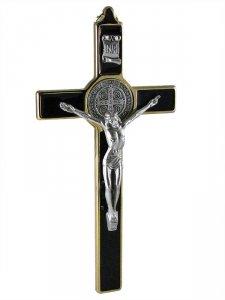 Copertina di 'Croce in metallo di San Benedetto - altezza 19,5 cm'