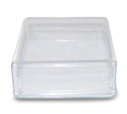 Copertina di 'Scatolina Portarosario in plastica rigida quadrata - 5 x 5 cm'