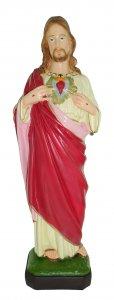 Copertina di 'Statua da esterno del Sacro Cuore di Gesù in materiale infrangibile, dipinta a mano, da 60 cm'