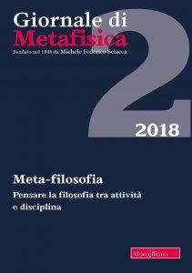 Copertina di 'Giornale di Metafisica, 2/2018, vol. 40'