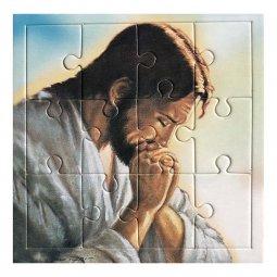 "Copertina di 'Mini puzzle ""Gesù orante"" - 12 pezzi'"