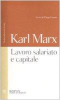 Lavoro salariato e capitale. Testo tedesco a fronte - Marx Karl
