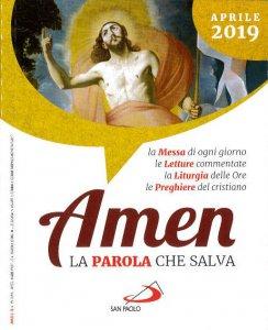 Copertina di 'Amen. La Parola che salva. Aprile 2019'