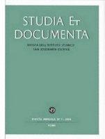 Studia et documenta. Rivista dell'Istituto Storico San Josemaría Escrivá