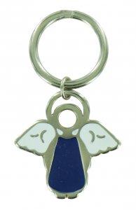 Copertina di 'Portachiavi a forma di angioletto con smalto blu - 4 cm'