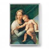 """Quadro """"Madonna del pesce"""" con cornice minimal - dimensioni 73x53 cm - Raffaello Sanzio"""