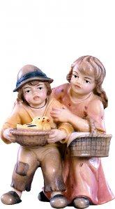 Copertina di 'Coppia di bambini D.K. - Demetz - Deur - Statua in legno dipinta a mano. Altezza pari a 10 cm.'