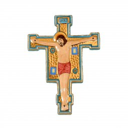Copertina di 'Crocifisso da parete in ceramica - 26 cm'