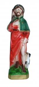 Copertina di 'Statua San Rocco in gesso madreperlato dipinta a mano - 20 cm'