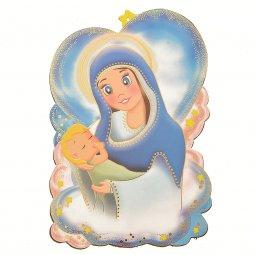 """Copertina di 'Icona sagomata con preghiera """"Ave Maria"""" per bambini - altezza 16 cm'"""