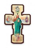 """Croce in legno """"Quattro Evangelisti""""  - altezza 22 cm"""