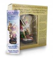 Immagine di 'Statua di San Michele Arcangelo da 12 cm in confezione regalo con segnalibro in IT/EN/ES/FR'