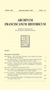 Copertina di 'Litterae papali nellArchivio della Curia Generale dellOrdine dei Frati Minori di Roma (1228-1261). Inventario e regesto  (41-87)'