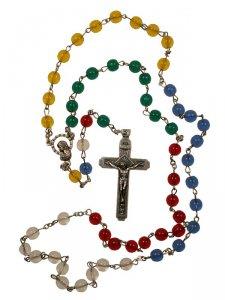 Copertina di 'Rosario missionario in plastica colorata'
