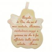 Immagine di 'Angioletto da appendere con mandolino - dimensioni 6x7 cm'