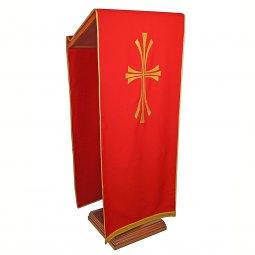 Copertina di 'Coprileggio rosso con croce stilizzata dorata'