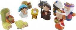 Copertina di 'Presepe per Bambini: Natività 10 personaggi in resina da 8 cm'