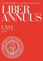 Liber Annuus  LXIX-2019