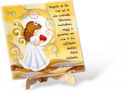 """Copertina di 'Canvas con cavalletto """"Angelo di Dio"""" - altezza 20 cm'"""