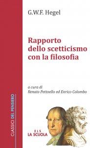 Copertina di 'Rapporto dello scetticismo con la filosofia'