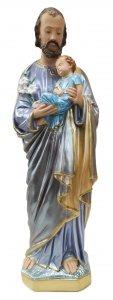 Copertina di 'Statua San Giuseppe in gesso madreperlato dipinta a mano - 60 cm'