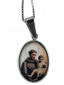Copertina di 'Collana con medaglia Sant'Antonio di Padova'