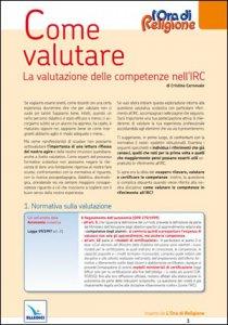Copertina di 'Come valutare. La valutazione delle competenze nell'IRC'