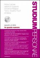 """Studium Personae n.2/2013. Rivista Culturale dell'Istituto Superiore di Scienze Religiose """"Mons. Anselmo Pecci"""" di Matera"""