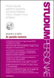 """Copertina di 'Studium Personae n.2/2013. Rivista Culturale dell'Istituto Superiore di Scienze Religiose """"Mons. Anselmo Pecci"""" di Matera'"""