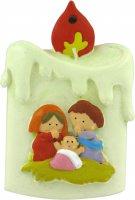 Natività a forma di candela - 8 cm