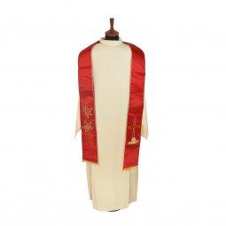 Copertina di 'Stola rossa in raso con simboli eucaristici'