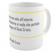 "SpiriTazza ""L'immagine di Gesù Cristo"" (San Paolo della Croce) - Bordo giallo - San Paolo della Croce"