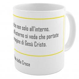 """Copertina di 'SpiriTazza """"L'immagine di Gesù Cristo"""" (San Paolo della Croce) - Bordo giallo'"""
